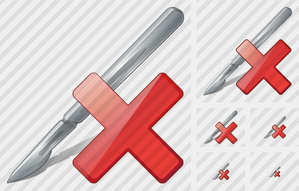 Scalpel Delete Icon