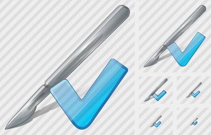 Scalpel Ok Icon