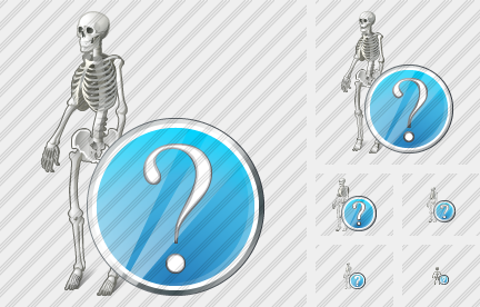 Skeleton Question Icon
