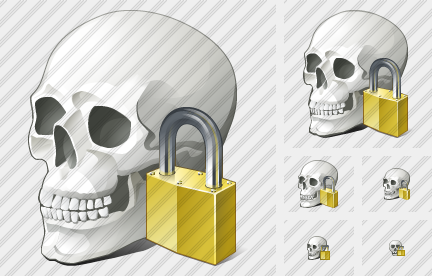 Skull Locked Icon