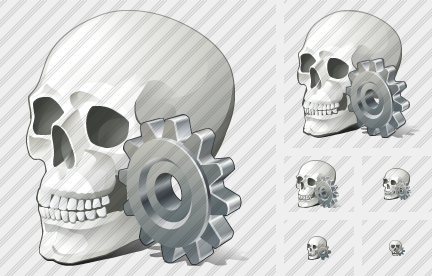 Skull Settings Icon