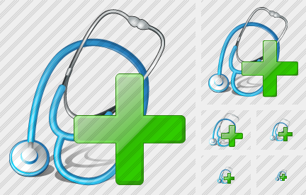 Stethoscope Add Icon