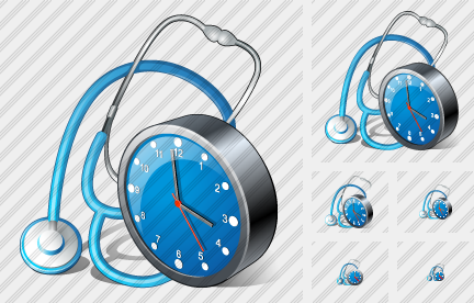 Stethoscope Clock Icon