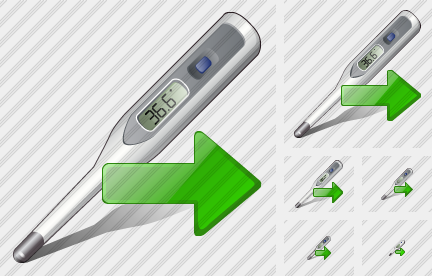 Thermometer Export Icon
