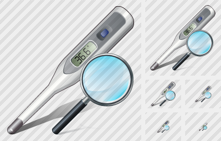Thermometer Search 2 Symbol