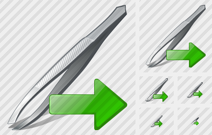 Tweezers Export Icon