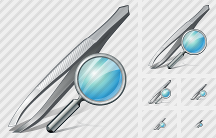 Tweezers Search Icon