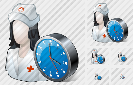 User Nurse Clock Icon
