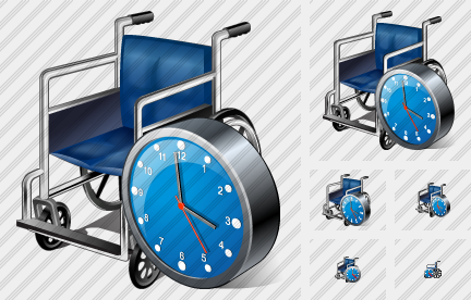 Wheel Chair Clock Symbol