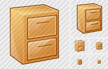File Cabinet Closed Icon