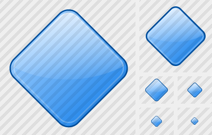 Rhomb Blue Icon