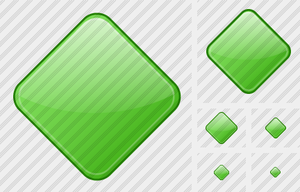 Rhomb Green Icon