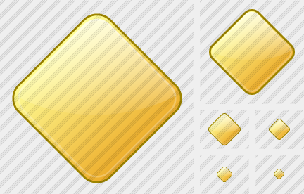 Rhomb Yellow Icon